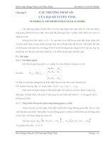 Chương 5 CÁC PHƯƠNG PHÁP SỐ CỦA ĐẠI SỐ TUYẾN TÍNH docx
