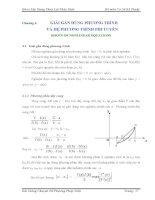 Chương 4 GIẢI GẦN ĐÚNG PHƯƠNG TRÌNH VÀ HỆ PHƯƠNG TRÌNH PHI TUYẾN pdf