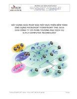 XÂY DỰNG GIẢI PHÁP BẢO MẬT DỰA TRÊN NỀN TẢNG ỨNG DỤNG MICROSOFT FOREFRONT TMG 2010 CHO CÔNG TY CỖ PHẦN THƯƠNG MẠI DỊCH VỤ D.M.A COMPUTER TECHNOLOGY