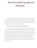 Sửa chữa các lỗi hay gặp trên Windows doc