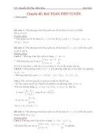 Chuyên đề bài toán tiếp tuyến