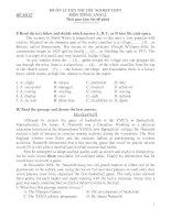 ĐỀ ÔN LUYỆN THI TỐT NGHIỆP THPT MÔN TIẾNG ANH 12 - ĐỀ SỐ 27 doc