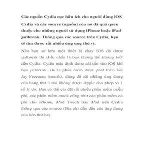 Các nguồn Cydia cực hữu ích cho người dùng iOS pps