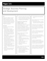 acca test book Strategic Business Planning and Development pot