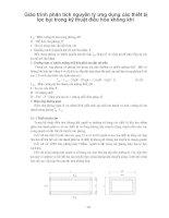 Giáo trình phân tích nguyên lý ứng dụng các thiết bị lọc bụi trong kỹ thuật điều hòa không khí p1 pptx