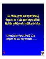 Bài giảng điều trị HIV - Chăm sóc giảm nhẹ cho bệnh nhân HIV/AIDS part 2 pps