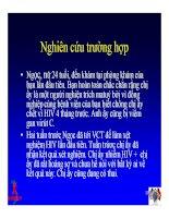 Bài giảng điều trị HIV - Nhu cầu về tâm lý & Xã hội của người nhiễm HIV/AIDS tại Việt Nam part 3 ppt