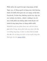 Phần mềm cho người ăn ngủ cùng mạng xã hội ppt