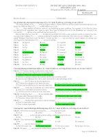 ĐỀ THI THỬ LẦN 1 NĂM HỌC 2010 - 2011 MÔN TIẾNG ANH - Mã đề thi 209 ppt