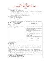 Giáo án lớp 5 môn Lịch Sử: XÃ HỘI VIỆT NAM CUỐI THẾ KỶ XIX ĐẦU THẾ KỶ XX. doc