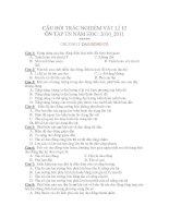CÂU HỎI TRẮC NGHIỆM VẬT LÍ 12 ÔN TẬP TN NĂM HỌC: 2010_2011 CHƯƠNG I: DAO ĐỘNG CƠ pps