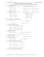 Bài tập chương trình giải tích lớp 11 potx