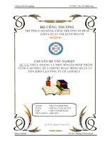 ĐỀ TÀI: THỰC TRẠNG VÀ MỘT SỐ GIẢI PHÁP NHẰM NÂNG CAO HIỆU QUẢ TRONG HOẠT ĐỘNG QUẢN LÝ TỒN KHO TẠI CÔNG TY CP ANH HUY pdf