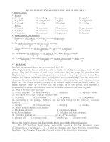 ĐỀ ÔN THI THỬ TỐT NGHIỆP TIẾNG ANH 12 SỐ 2 (10-11) ppsx