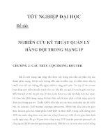 NGHIÊN CỨU KỸ THUẬT QUẢN LÝ HÀNG ĐỢI TRONG MẠNG IP CHƯƠNG 2_1 pptx