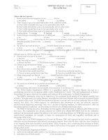 WRITTEN TEST 45' – No 001 ppt