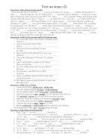 Test on tense (2) ppt