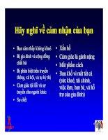 Bài giảng điều trị HIV - Nhu cầu về tâm lý & Xã hội của người nhiễm HIV/AIDS tại Việt Nam part 2 pot
