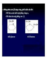 Bài giảng chuyển hóa các chất- Hóa học Glucid part 2 pdf