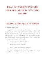 """ĐỒ ÁN TỐT NGHIỆP CÔNG NGHỆ PHẦN MỀM """"KĨ THUẬT LƯU LƯỢNG IP/WDM"""" CHƯƠNG 1 doc"""