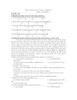 Final written test of 1st term - MÃ ĐỀ: 126 ppt