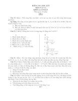 KIỂM TRA HỌC KÌ I MÔN VẬT LÍ KHỐI 12 CƠ BẢN - ĐỀ 2 docx