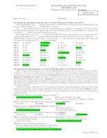 ĐỀ THI THỬ LẦN 1 NĂM HỌC 2010 - 2011 MÔN TIẾNG ANH - Mã đề thi 134 pdf