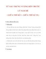 Giáo án Lịch sử lớp 6 : Tên bài dạy : TỪ SAU TRƯNG VƯƠNG ĐẾN TRƯỚC LÝ NAM ĐẾ ( GIỮA THẾ KỈ I – GIỮA THẾ KỈ VI ) pot