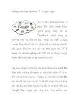 Những điều bạn nên biết về Google Apps pps