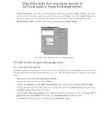 Giáo trình phân tích ứng dụng nguyên lý kỹ thuật quản lý trong Exchange server p1 docx
