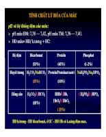 Bài giảng sinh hóa - Máu và dịch não part 2 pdf