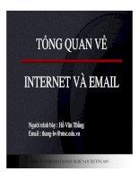 TỔNG QUAN VỀ INTERNET VÀ EMAIL docx