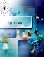 Bài thảo luận vật liệu nano