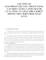 CHƯƠNG III GIẢI PHÁP CHỦ YẾU NHẰM NÂNG CAO KHẢ NĂNG CẠNH TRANH CỦA CÔNG TY GIẦY THỤY KHUÊ TRONG ĐIỀU KIỆN HỘI NHẬP AFTA._P1 doc