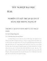 NGHIÊN CỨU KỸ THUẬT QUẢN LÝ HÀNG ĐỢI TRONG MẠNG IP CHƯƠNG 3_1 docx
