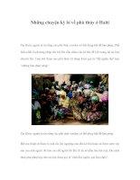 Những chuyện kỳ bí về phù thủy ở Haiti docx