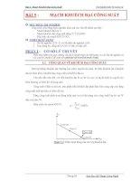 Thí nghiệm điện tử tương tự - Bài 5 docx