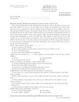 ĐỀ THI HỌC KỲ II MÔN TIẾNG ANH 12 - Mã đề thi 209 pptx