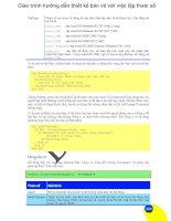 Giáo trình hướng dẫn thiết kế bản vẽ với việc lập tham số phần 1 doc