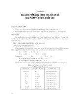 Chương 5: Các loại phản ứng trong hóa hữu cơ và khái niệm về cơ chế phản ứng doc