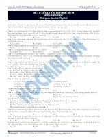 Đề thi thử đại học hay môn hóa học - đề 11 doc