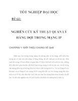 NGHIÊN CỨU KỸ THUẬT QUẢN LÝ HÀNG ĐỢI TRONG MẠNG IP CHƯƠNG 1_1 pdf