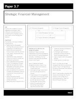 acca test book Strategic Financial Management pptx