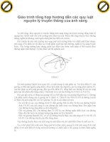 Giáo trình tổng hợp hướng dẫn các quy luật nguyên lý truyền thẳng của ánh sáng phần 1 pot