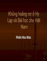 Khủng hoảng nợ công Hy Lạp và bài học cho Việt Nam ppt