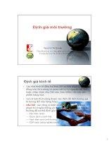 Kinh tế môi trường - Lecture 5 ppsx