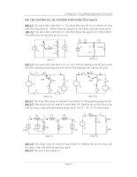 Mạch điện 1 ( ĐH kỹ thuật công nghệ TP.HCM ) - Bài tập chương 3 pdf