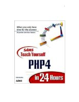 SAMS Teach Yourself PHP4 in 24 Hours phần 1 pptx