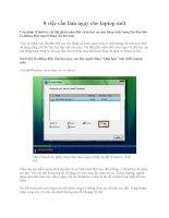 8 việc cần làm ngay cho laptop mới pdf