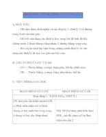 Giáo án Hình Học lớp 8: .ĐƯỜNG TRUNG BÌNH CỦA TAM GIÁC pdf